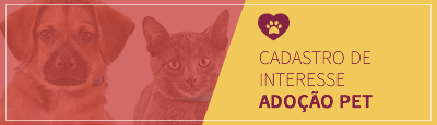 Banner cadastro para adoção de Pets